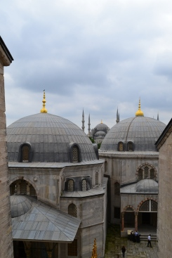 View of the Blue Mosque from the Haghia Sophia, Istanbul, Turkey